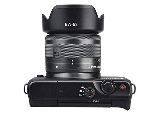 15-45 mm f//3.5-6.3 IS STM Cámara Digital EW-53 Parasol para Canon EF